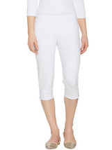 WOMEN WITH CONTROL Size L Tummy Control Pedal Pushers WHITE - $32.64