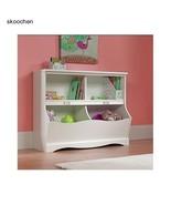 Furniture, Bookshelf, Bookcase, Footboard by Sauder Pogo, Soft White Finish - $151.90