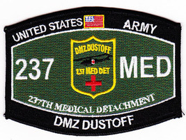 US Army 237th Medical Detachment DMZ DUSTOFF MOS 237 MED Patch - $9.97