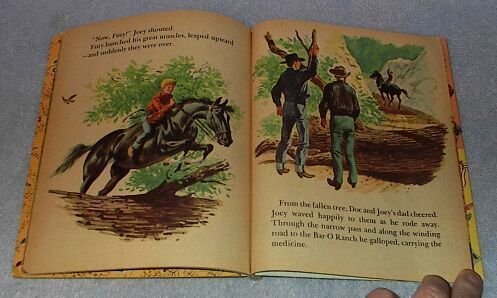 Fury Takes the Jump 336 Vintage 1958 Little Golden Book