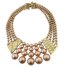 Monet Deco Style Runway Couture Bib Necklace 1980s - €118,46 EUR
