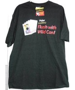 Poker for Dummies T shirt Mens XL Black Playing Cards Wild Card Flush Te... - $9.93