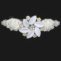 Indie Vintage Bridal Hair Barrette Flower Hair Clip One of a Kind - $42.50