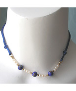 Vintage Kim Craftsman 70s Summer Necklace Millefiori Bead Satin Necklace... - $20.00