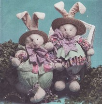 """32"""" Girl Boy Easter Bunny With Clothes Dress Apron Pants Craft Sew Pattern - $13.99"""