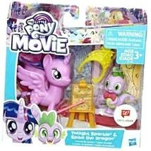 My Little Pony the Movie TWILIGHT SPARKLE & SPIKE THE DRAGON Figures Pla... - $12.73