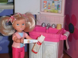 Rement Tooth Paste Barbie Tooth Brush fits Fisher Price Loving Family Dollhouse - $5.99