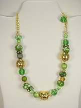Necklace with Emerald Green Sparkly Crystal, Rh... - $40.00