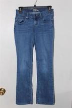 W8144 Womens OLD NAVY Diva Blue Stretch Denim Slim BOOT CUT JEANS 0 - $12.60