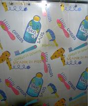 Colorful BARBER SHOP Cute Design 180 x 180 cm PLASTIC Shower Curtain Coo... - $26.99