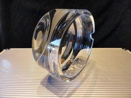 "clearf heavy glass  ashtray 6.25"" Diameter by 3"" High - $247.50"