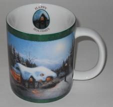 AMCAL ~ Silent Night by Thomas Kinkade  ~ Happy Holidays ~ Coffee Cup Mug - $29.95
