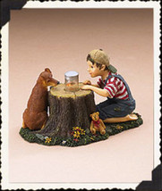 "Boyds Dollstone  ""Tommy & Scout.. Lightning Bug Fun"" #35011- 1E- Lighted - 2006 - $29.99"