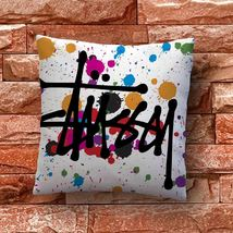 Stussy Splash Colorfull Throw Pillow Case Decorative Cushion Cover - $11.90