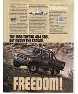 1985 Toyota 4X4 SR5 Full Page Print Ad - Get Above The Crowd - Near Mint - $3.99