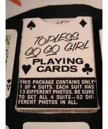Vintage Topless Go Go Girls Playing Cards  - (sku#2285) - $12.99