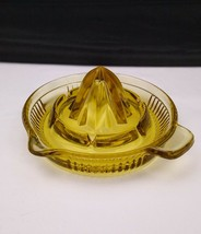Vintage Honey Amber Glass Juicer Reamer Never Used - $12.95