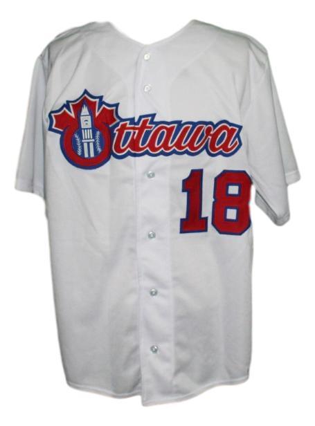 Custom ottawa champions retro baseball button down jersey white   1