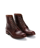 Mens Handmade Brown Leather Derby Lace Up Ankle Boots - $179.99+