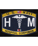 US Navy HM Hospital Corpsman Rate Military MOS Patch - $9.97