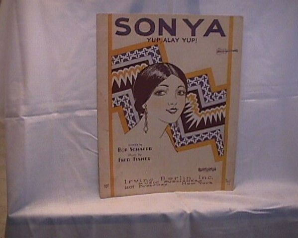 Sonya Irving Berlin Sheet Music Vintage 1925