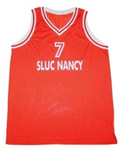 Adrian Autry #7 Sluc Nancy Basketball Jersey Sewn Red Any Size image 4