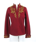 ICELANDIC DESIGN Size S Double Faced Boiled Wool Shaped Zipper Jacket - $39.99