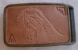 Vintage Spirit Horse Belt Buckle,1970s,metal & ... - $19.99