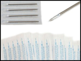 10 Pc Sterile 14 Gauge 14G Body Ear Navel Nipple Piercing Needles - $4.75