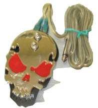 Red Skull Tattoo Power Supply Foot Switch Pedal Flat Stainless Steel UTS... - $10.00