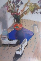 Original & Signed Galya Pillin Tarmu Large Still Life Pastel Painting LI... - $5,999.99