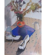 Original & Signed Galya Pillin Tarmu Large Still Life Pastel Painting LI... - $5,999.99