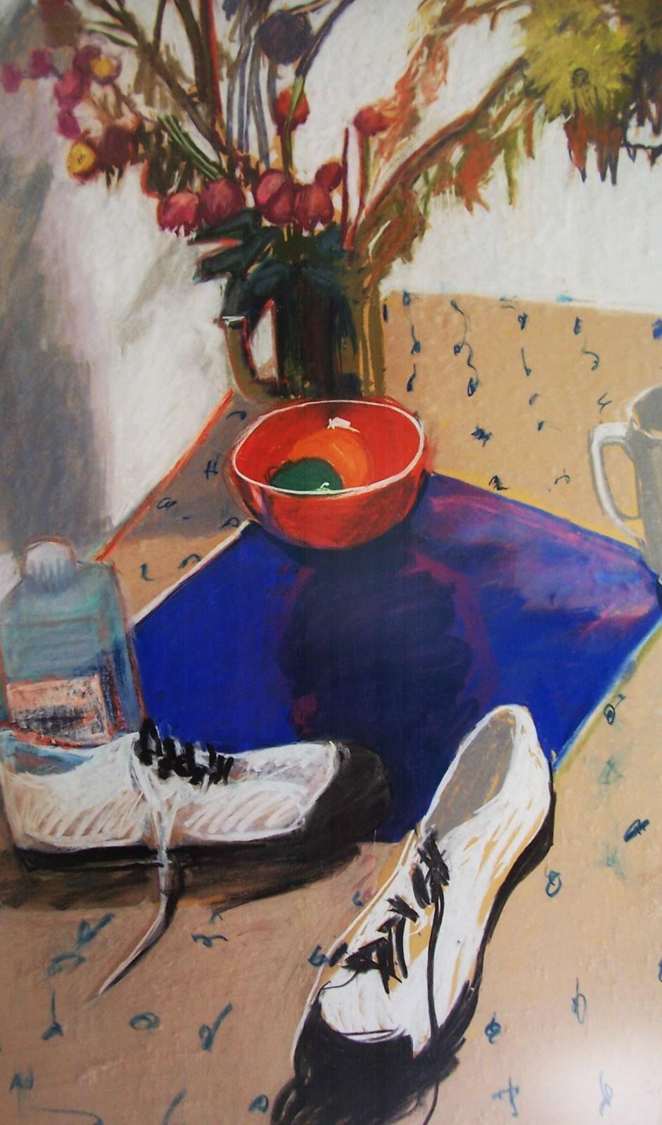 Original & Signed Galya Pillin Tarmu Large Still Life Pastel Painting LISTED ART