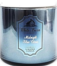 Bath & Body Works Midnight Blue Citrus 3 Wick Candle Mirror Glass & Marb... - $29.39