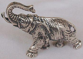 Elephant A silver miniature