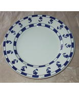 Ceramica Quadrifoglio Lunch Plate Made In Italy Blue Flowers Blue and Wh... - $10.00