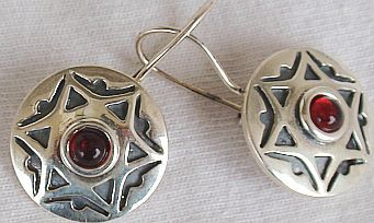 David Star red earrings