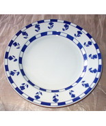 Ceramica Quadrifoglio Dinner Plate Made In Italy Blue Flowers Blue and W... - $14.50
