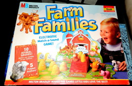 FARM FAMILIES MB  ELECTRONIC MATCH A SOUND GAME FOR AGES 3 TO 6 - $29.00