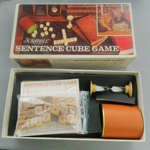 SCRABBLE SENTENCE CUBE 1971 S & R GAME -- COMPLETE - $24.00