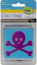 Cuttlebug 3-Inch-by-3-Inch Cut and Emboss Combo, Beware (Skull and Cross Bones)