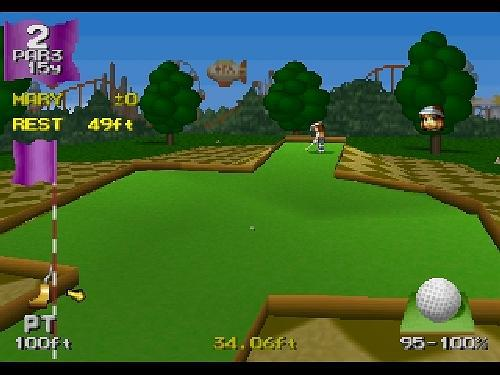 Minna No Golf v1, Sony Playstation One PS1, Import Japan Game