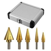 Step drill bit titanium cone set thumb200