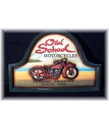 "LG. ""OLD SCHOOL"" MOTORCYCLE DECORATIVE 3-D WALL PLAQUE - $24.95"
