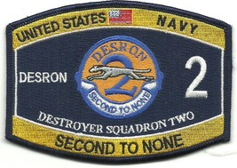 US Navy DESRON 2 Destroyer Squadron Two Second To None Patch - $9.97