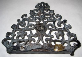 Judaica Hanukkah Oil Menorah Antique Copper Alloy Engraved Italy/North Africa image 4