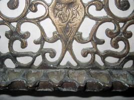 Judaica Hanukkah Oil Menorah Antique Copper Alloy Engraved Italy/North Africa image 2