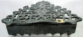 Judaica Hanukkah Oil Menorah Antique Copper Alloy Engraved Italy/North Africa image 5