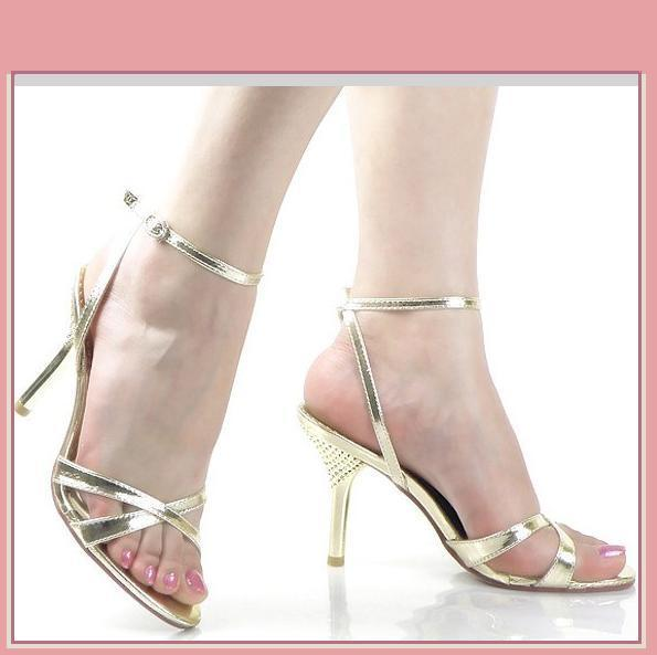 55835aae89f Ax247 833291 1481183714. Ax247 833291 1481183714. Previous. Gold Italian  Stiletto Bridal 3 inch Low High Heel Spike Strappy Sandals