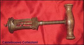 Antique DRGM Corkscrew Wine Opener Wood Handle Spring Assisted Germany Signed image 5